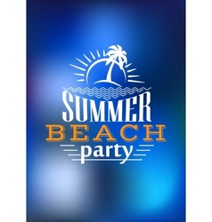 Summer beach party poster design vector