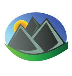 Mountain logo 4 vector