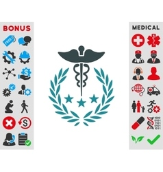 Caduceus logo icon vector