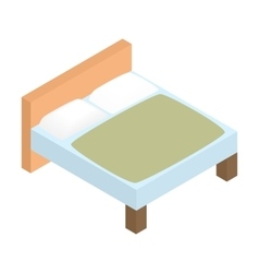 Bed linens isometric 3d icon vector