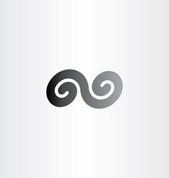 Black infinity spiral symbol sign icon vector