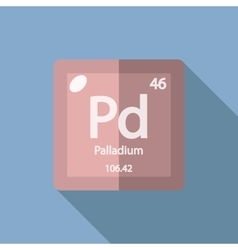 Chemical element palladium flat vector