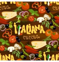 Italian Food Seamless Background vector image