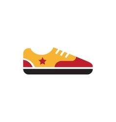 Retro vintage gumshoes icon isolated vector