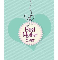 Best mother ever card vector