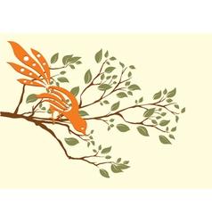 Bird on a branch vector