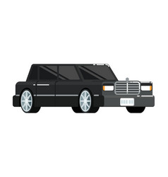 Black luxury limousine icon vector