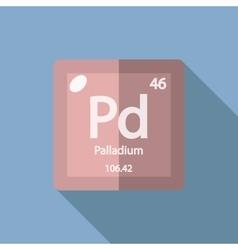 Chemical element Palladium Flat vector image