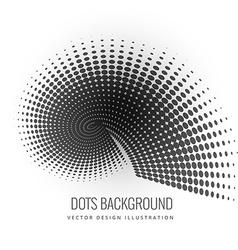 Circular halftone design vector