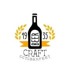 Craft beer oktoberfest logo design template vector
