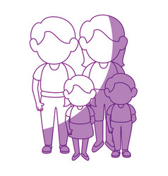 Family stand up vector