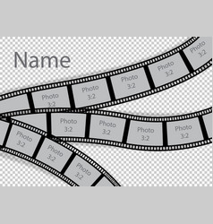 Film strip photo frame effect template collage vector