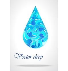 Floral drop of water vector