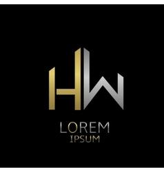 Hw letters logo vector