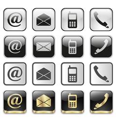icon app set vector image vector image