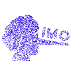 Imo lier icon grunge watermark vector