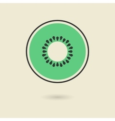 kiwi icon with shadow vector image vector image