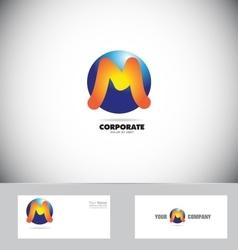 Letter M logo sphere icon vector image