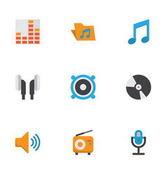 Music flat icons set collection of tone vector