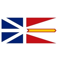 Newfoundland and labrador flag correct proportions vector