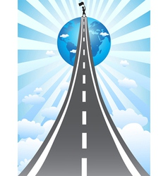 road to success vector image vector image