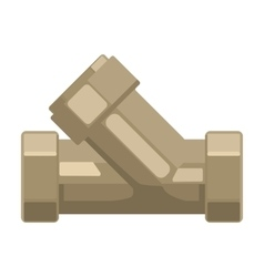 Tee plumbing fitting icon in cartoon style vector image