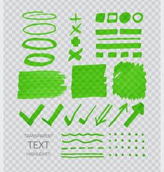 transparent highligter spots vector image vector image