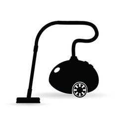 Vacuum cleaner in black vector