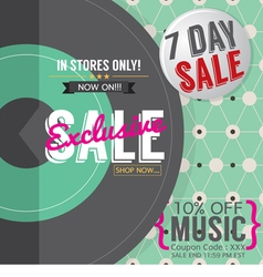 Vinyl Exclusive Sale vector image