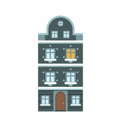Winter europe house vector