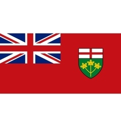 Flag of ontario in correct proportions and colors vector