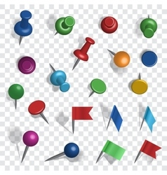 Colored pins vector