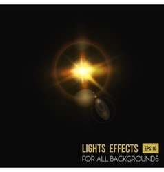 Camera lens flare background sun light effect vector