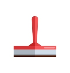 Cleaning housework wash tool squeegee flat vector
