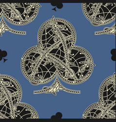 vintage seamless pattern card suits vector image