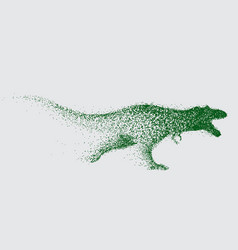 Blurred motion of tyrannosaur vector