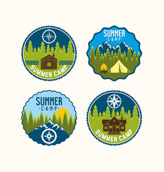 Set of logos of camps vector