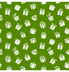 Green gift pattern vector