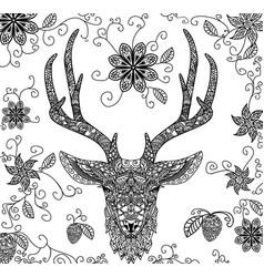 Black dear pattern vector