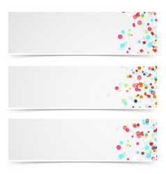 Colorful abstract splatter paint card collection vector