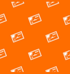 Stamp with plane and text miami inside pattern vector