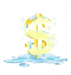 laundering of money vector image