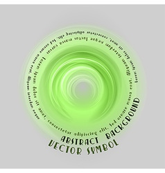 Neon light soft green round with text vector