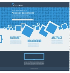 Website abstract blue brochure squares vector