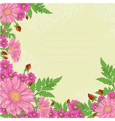 Background with mix of flowers vector