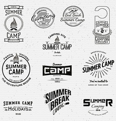 Summer camp badges logos and labels for any use vector