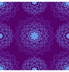 Blue indian vintage ornament blue mandala vector