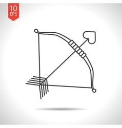 Amour arrow icon vector