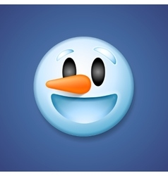 Snowman emoticon laughing holiday emoji smile vector