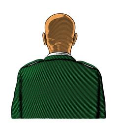 Bald soldier vector image